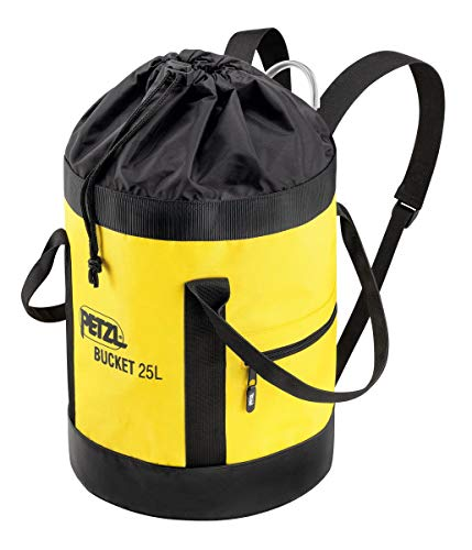 Petzl S41AY 025 BUCKET Fabric Pack, Remains Upright, 25 L, Black/Yellow