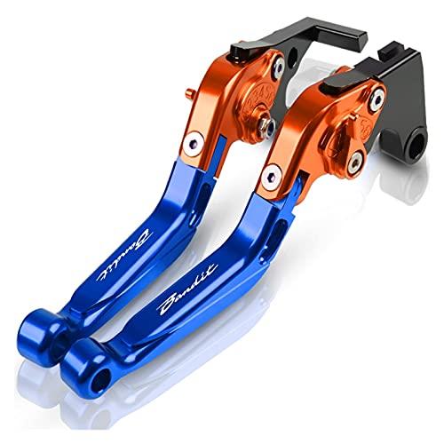 Kit De Embrague Palancas para Suzuki GSF 1200 GSF1200 Bandit Accesorios De Motocicleta Mango Freno Mano Palanca De Embrague Freno Ajustable CNC Cubre Puños del Manillar Pit Bike (Color : D)