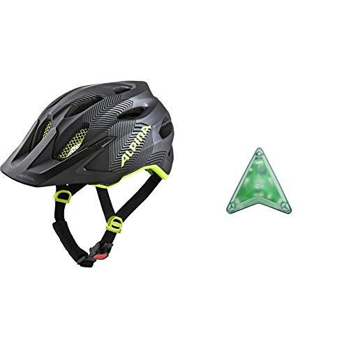 ALPINA Carapax JR. Fahrradhelm, Kinder, Black-neon Yellow, 51-56 & Unisex– Erwachsene Multi-fit Light Fahrradhelmzubehör, transparent, One Size