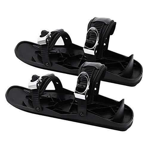 NAINAIWANG Mini EsquíS Calzado para Exteriores Raquetas De Nieve Esquí Snowboard Zapatos Trineo Paneles Antideslizantes Los Pies Botas Tablas Equipo Ajustable Deportes Invierno Funda Duradera