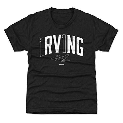 500 LEVEL Kyrie Irving Youth Shirt (Kids Shirt, 14-16Y X-Large, Tri Black) - Kyrie Irving Name Number W WHT