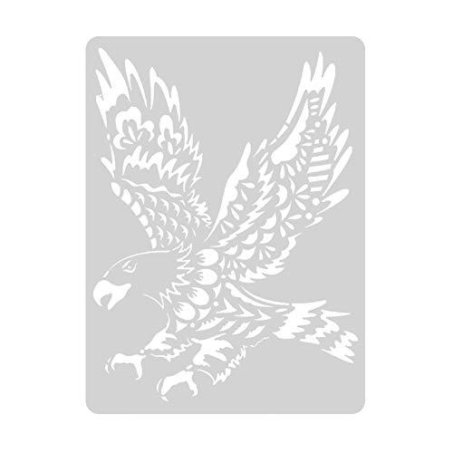 Prosperveil Tier-Design Malerei Zeichnung Schablonen Vorlagen für Kinder Erwachsene DIY Basteln Kunst Papier Karte Basteln Scrapbooking Album Dekoration Adler