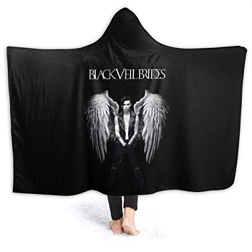 "ThomasCGaona Black Veil Brides Hooded Blanket 3D Print Super Soft Comfortable Fleece Blanket 50""x40"""