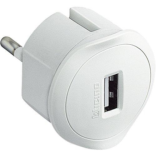 BTicino S3625DU Adattatore con Presa USB 1.5A per Tutti Gli Standard di Prese, Bianco