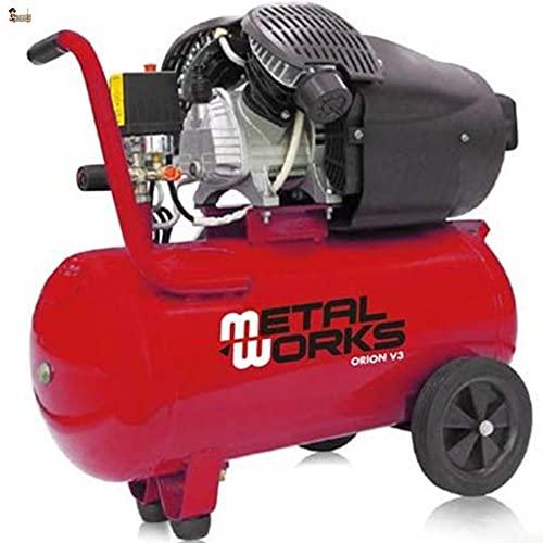 BricoLoco Compresor aire portátil. 8 bares de presión. 3 CV de potencia. Depósito 50 lts. ¡¡¡ DOS CILINDROS EN V !!!...