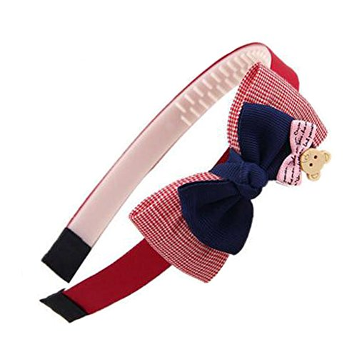 Girls Sweet Hairband Hair Band Accessoires Coiffure Avec Bow-nœud, Rouge