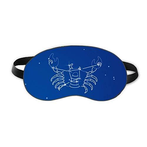 Stern Universum Krebs Sternbild Schlaf Augenmaske Nacht Augenbinde Schatten Abdeckung