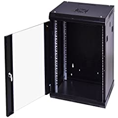 Solid structure, lockable security assurance: 1mm thick cold rolled steel construction with 2mm thick adjustable mounting posts, stable and durable. This 18u wall-mount server cabinet is equipped with a lockable door which installed with reinforced, ...