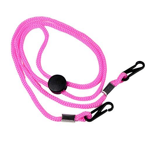 Hawhy 5 Stück Maskenkette Maskenband Maskenhalter Mundschutzkette mit verstellbarem Stopper (Rosa)