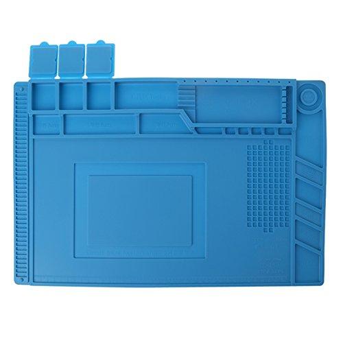 ETSK 45x30cm aislamiento térmico silicona pad escritorio Mat plataforma mantenimiento para BGA estación de reparación de soldadura
