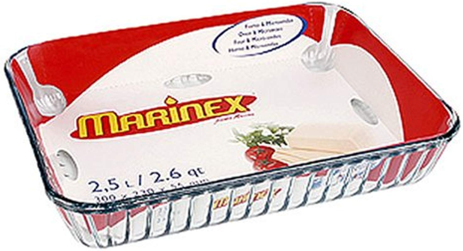 Marinex Rectangular Glass Fluted Baking Dish 11 3 4 X 9 X 2 1 8