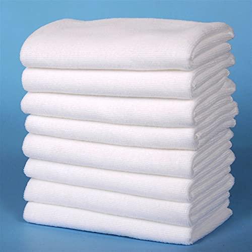 YSYSPJM Toallas 8 PCS Nuevas Toallas de Gimnasio Blanco 100% algodón Toallas de baño Toallas de salón Toallas Luz de Peso rápido Secado rápido (Color : White, Size : 25 * 25cm)