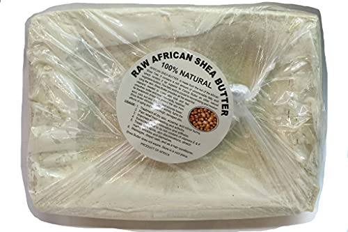 African Shea Butter Pure Raw Unrefined From Ghana White/ Ivory 5lbs. Pack