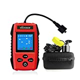 Venterior Portable Fish Finder Handheld Fishfinder Depth Finder Fishing Gear with Sonar Transducer, LCD Display, Water Resistant Bag and Storage Case (Red)