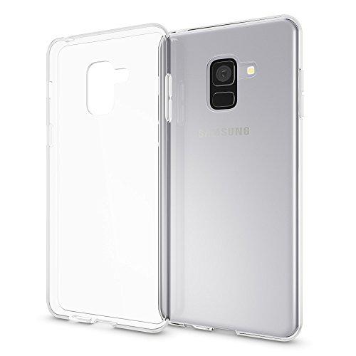 NALIA Handyhülle kompatibel mit Samsung Galaxy A8 2018, Ultra-Slim TPU Silikon Hülle Cover Crystal Clear Schutzhülle Dünn Durchsichtig, Backcover Hülle Etui Handy-Tasche Transparent, Phone Bumper