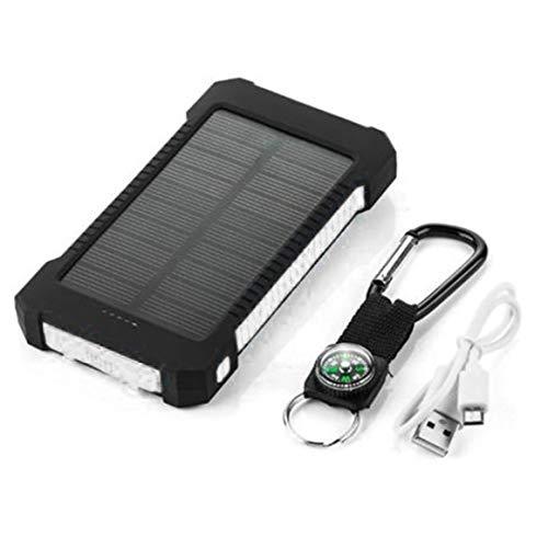 KoelrMsd Banco de energía Solar de Gran Capacidad Cargador de batería Solar portátil USB Dual Cargador de teléfono móvil Universal