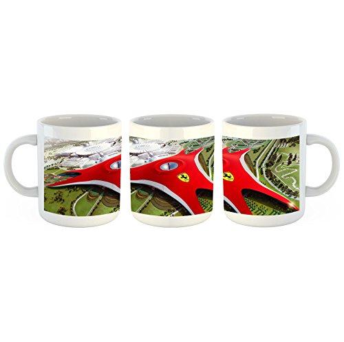 Unified Distribution Ferrari World - Tasse mit Motiv Bedruckt, 300ml C-Henkel. Tolles Geschenk für Büro, Küche, Geburtstag, Lieblingstasse zum Frühstück