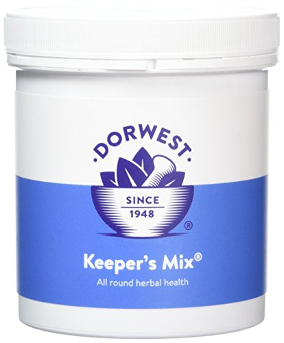 Dorwest Herbs Keepers Mix Powder for Dogs and Cats 250g - Perfect raw feeding supplement, 8 nutritious pure herbs for all round herbal health