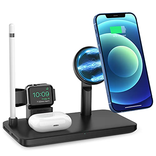 iSeneo Magnetic 4-in1 Wireless Charging Station Now $16.99 (Was $35.99)