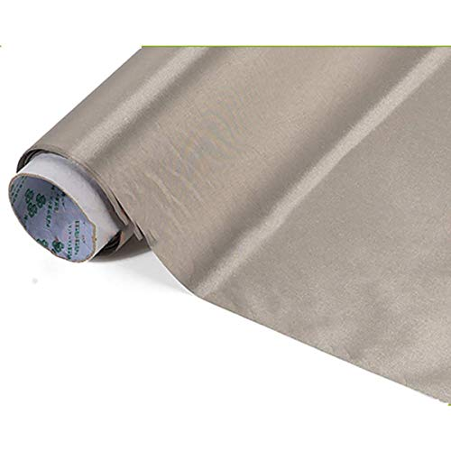 GXLO RFID-Gewebe, 1,08 m breit, antimagnetisch, leitfähig, elektromagnetisch, Abschirmung, Geldbörse, Bankkarte, RFID-Tuch für besondere Uniformen, Gepäck, Zelte, Silber, 1 m