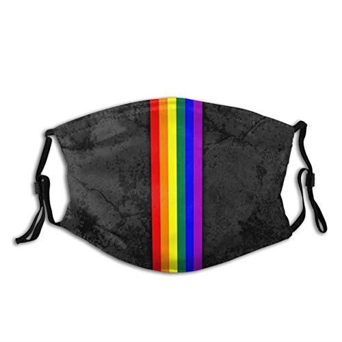 Lgbt Lesbian Gay Bisexual Transgender Pride Love Is Love Rainbow Flag Decoration Printed Face Mask Scarf, Washable Breathable Reusable Bandana Adjustable, For Adult Women & Men Outdoor