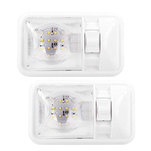 Kit d'éclairage intérieur pour caravane et camping-car, set de 2, 24 Led, 12v, 320lm, 38x208x127 mm Interrupteur marche/arrêt