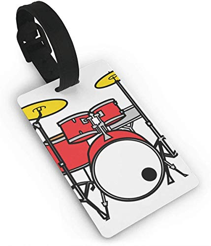 Drum Luggage Tag with Name Id Card Perfect to Quickly Spot Luggage Suitcase