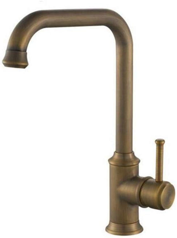 Küche Bad Wasserhahnantike Spüle-Mischbatterie Antike Küchenarmatur Wasserhahn Voll Kupfer Hei Und Kalt