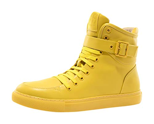 JUMP J75 Men's Sullivan Light Weight | Stylish | Side Zipper | High-top Fashion Sneakers | Running | Walking | Tennis | Athletic Shoes for Men Yellow