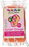 FunCakes mandelhaltige Zuckermasse Sunset Orange, 1er Pack (1 x 250 g) -