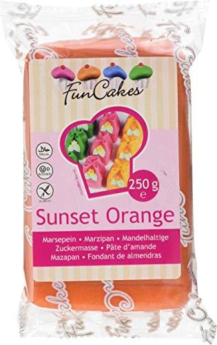 FunCakes mandelhaltige Zuckermasse Sunset Orange, 1er Pack (1 x 250 g)