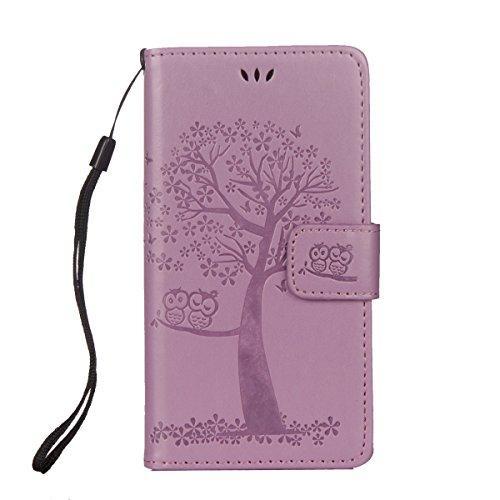 ISAKEN Funda para Sony Xperia XA1, Cartera Fundas de PU Cuero Standing Leather Wallet Case Cover...