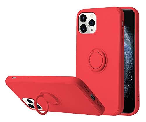 Funda para iPhone 12/12 Pro Apple Case,Fundas iPhone 12/12 Pro Silicona Antigolpes Carcasa Gel de sílice líquido Compatible con Posterior Magnético Iman (iPhone 12 Pro, Rojo)