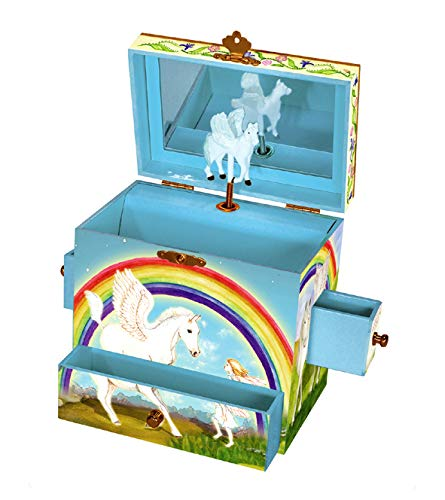 Lutèce Créations Spieluhr / Schmuckkästchen mit Musik, mit Geheimfächern, mit geflügeltem Pferd, Pegasus (Referenz: 12-01) – Sonate Clair de Lune (Beethoven)