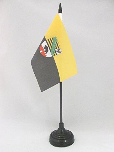 AZ FLAG TISCHFLAGGE Sachsen-Anhalt 15x10cm - Sachsen-Anhalt TISCHFAHNE 10 x 15 cm - flaggen