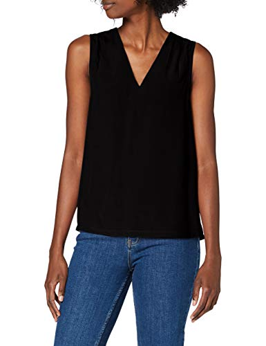 Vero Moda VMBECKY SL Top WVN Camiseta sin Mangas, Negro, M para Mujer