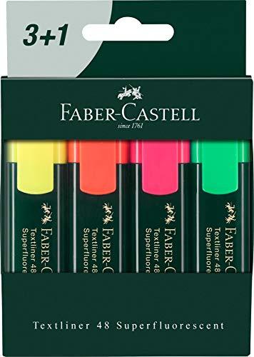 Faber 09254830 - Pack 3+1 marcadores flúor