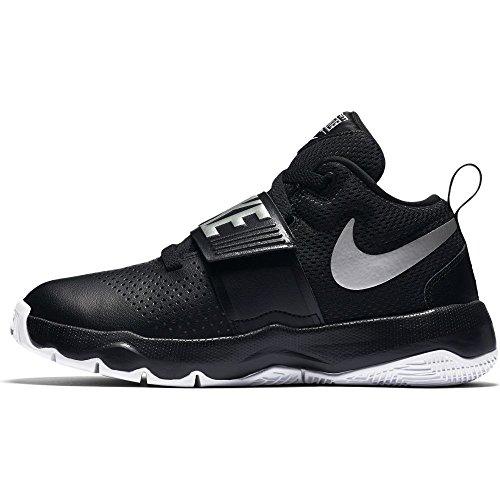 Nike Boy's Team Hustle D 8 Gs Black/Metallic Silver-White Basketball Shoes - 5.5 Kids UK (38.5 EU) (6 Kids US) (881941-001)
