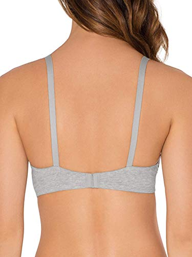 Fruit of the Loom Women's 2-Pack T-Shirt Bra, Heather Grey/White, 38A