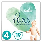 Pampers Pure Protection Größe 4, 19 Windeln, 9-14 kg