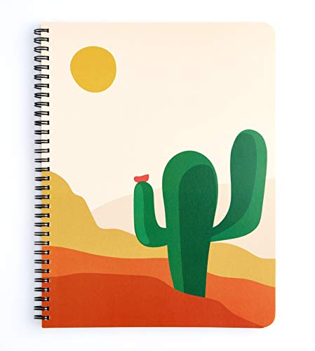 Factor Notes Spiral Notebook: A4, 100 GSM Natural Shade Paper, Dot Grid, 160 Pages (Cactus)