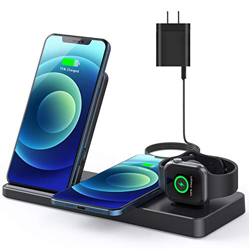 Wireless Charger, 24W Wireless Charging Station Compatible with iPhone 12/12 pro/ 12 mini/11/11 Pro...