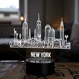 LED Deko Lampe New York City Skyline - Elbeffekt - USA