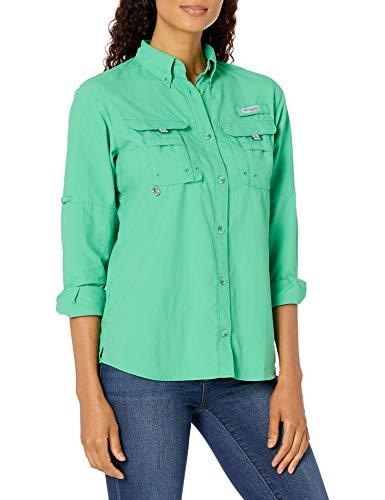 Columbia Women's PFG Bahama Long Sleeve Shirt , Bright Geranium X-Large