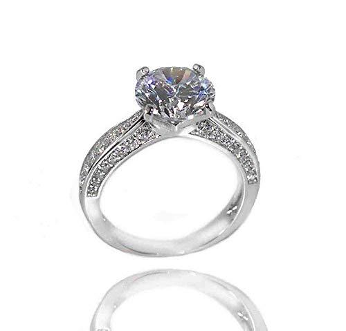 ORNARA Solitär Ring Sterling Silber 925 Verlobungsring Vorsteckring