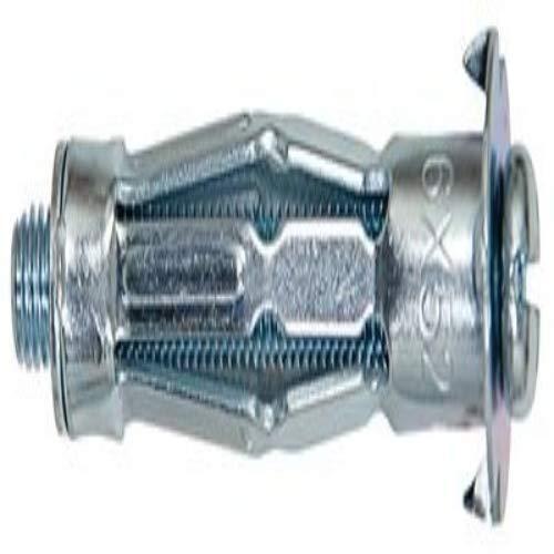 fischer HM 6 x 37 S - Hohlraum-Metalldübel mit Schraube zum Befestigen von Bildern, Gardinenschienen in Plattenbaustoffen- 50 Stück - Art.-Nr. 519777