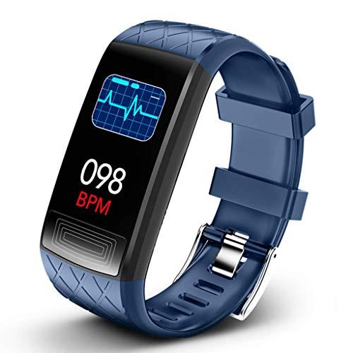 LTLJX Fitness Armband, Wasserdichtes Sportuhr Sportuhr Pulsmesser Schlafüberwachung Schrittzähler Smartwatch Armbanduhr für Kinder Damen Herren,Blau