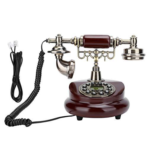 Teléfono con cable, FSK/DTM FRetro Estilo de resina Teléfono con dial giratorio Teléfono fijo de escritorio para oficina en casa Hotel, con cable Teléfono antiguo Soporte de teléfono antiguo Llamada c