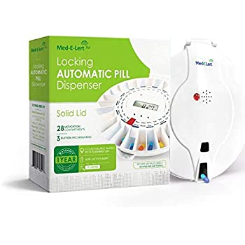 Med-E-Lert™ Premium Locking Automatic Pill Dispenser with Solid White Lid Only