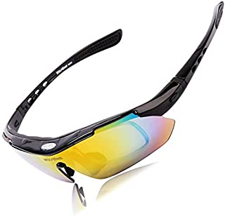 UV400 Goggles Bicycle Cycling Glasses Sunglasses outdoor riding running polarized lens glass-Black